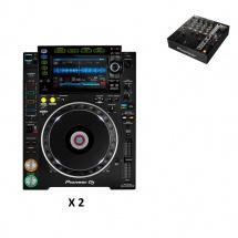 Pioneer Dj Pack Djm750 Noire + 2x Cdj-2000nxs2