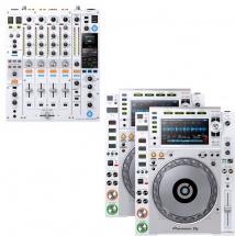 Pioneer Dj Pack Dj Professionnel Djm-900nxs2 + 2x Cdj-2000nxs2 Blanc