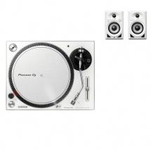 Pioneer Dj Pack Dm-40bt + Plx-500 - Blanc