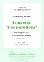 Joubert Claude-henry - Concerto Les Papillons - Saxophone Alto & Piano