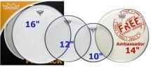 Remo Pp-1860-be  - Propack Emperor Transparente 10 12 16 + Ambassador Sablee 14