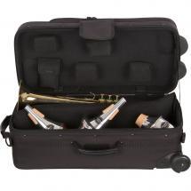 Protec Etui Ipac A Roulettes - 1 Ou 2 Trompettes - Noir