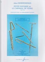 Demersseman Jules - Petite Fantaisie Sur Le Carnaval De Venise Op.7 Bis - Flute, Piano