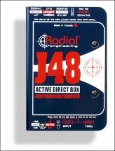 Radial J48 Di Active + Alim. Phantom 48v