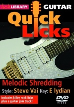 Lick Library - Quick Licks For Guitar - Steve Vai Melodic Shredding [dvd] [2008] - Guitar