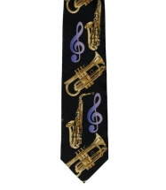 Woodbrass Club Cravate Polyester Motif Instruments A Vent