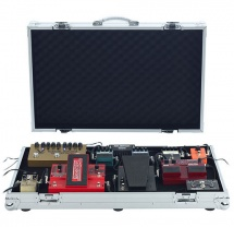 Rockgear Flight Case Professionnel En Aluminium - Pedalboard, 77.5 X 47,5 X 11.5 Cm