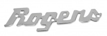 Rogers Drums 5slogo Logo Badge Acier Chrome
