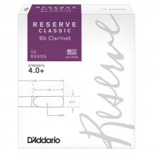 D\'addario Woodwinds Anches Reserve Classic Clarinette Si Bemol Force 4.0+ Pack De 10