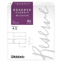 D\'addario Woodwinds Anches Reserve Classic Clarinette Si Bemol Force 4.5 Pack De 10