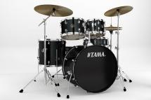 Tama Rm52kh6c-bk - Rhythm Mate Stage 22  Black + Cymbales
