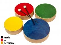Rohema Set De 4 Toms De Couleur En Bois + 2 Baguettes - 3+