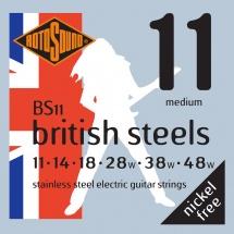 Rotosound British Steels Stainless Steel Medium 11 14 18 28 38 48