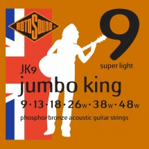 Rotosound Jumbo King Phosphore Bronze Super Light 9 13 18 26 38 48