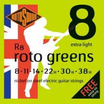 Rotosound Roto R8 Nickel Extra Light 838