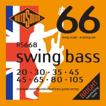 Rotosound Swing Bass Stainless Steel 8 Cordes 20-45 30-65 35-80 45-105