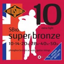 Rotosound Super Bronze Extra Light 10 14 20 28 40 50