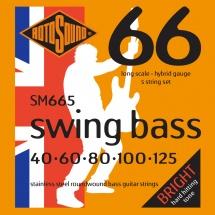 Rotosound Swing Bass Stainless Steel 5 Cordes Hybrid 40 60 80 100 125