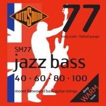 Rotosound Jazz Bass Monel Filet Plat Hybrid 40 60 80 100