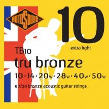 Rotosound Tru Bronze 80/20 Bronze Extra Light 10 14 20 28 40 50