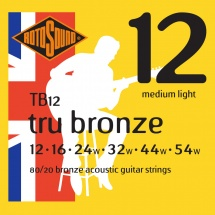 Rotosound Tru Bronze 80/20 Bronze Medium Light 12 16 24 32 44 54