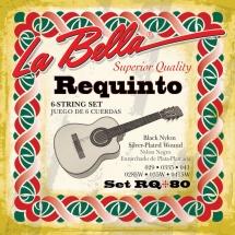 Labella Pour Requinto Mexicain ? Nylon Noir / File Argent