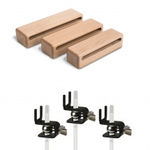 Schlagwerk S-wb823h - Woodblocks, Set De 3, + Supports