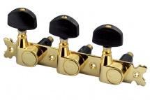 Schaller Mecaniques Mk Bouton Dore/ebène