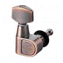 Schaller Mecaniques M6 Pointe De Fixation 3 Gauches/ 3 Droites Vintage Copper