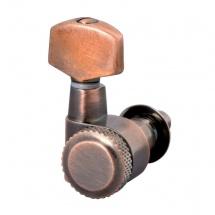 Schaller Mecaniques M6 Bloquante Avec Pointe De Fixation 3 Gauches/ 3 Droites Vintage Copper