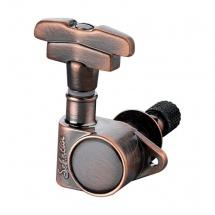 Schaller Sc502.257 Mecaniques M6 Vintage S Toplocking 3 Gauches/ 3 Droites - Vintage Copper