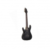 Guitare Electrique Gaucher 7 Cordes Schecter Omen 7 - Black