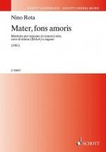 Rota N. - Mater, Fons Amoris - Chorale
