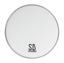 Sparedrum M2w08 - Peau 8 Mute 2 Plis - Mesh Silencieuse - Blanc
