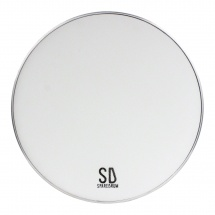 Sparedrum M2w13 - Peau 13 Mute 2 Plis - Mesh Silencieuse - Blanc