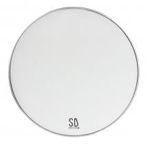 Sparedrum M2w18b - Peau Gc 18 Mute 2 Plis - Mesh Silencieuse - Blanc