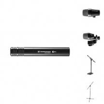 Sennheiser Pack Pro Micros Batterie E902 + E914 + E904 + Pieds