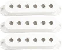 Seymour Duncan S-cover-w-nol - 3 X Capot S White Sans Logo