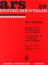 Stamitz Carl - Concerto N°10 - Clarinet And Orchestra