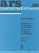 Stamitz Carl - Concerto N°10 - Score