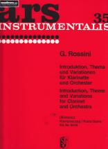 Rossini Gioacchino - Introduction, Theme Et Variations - Clarinette & Piano