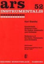 Stamitz Karl - Konzertante Sinfonie D-dur Für Violine, Violoncello Und Orchester - Reduction Piano