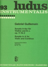Guillemain Gabriel - Sonata A-dur Für Violine Und Bc, Op 11 Nr 2 - Violon & Piano