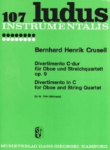 Crusell B. H. - Divertimento C-dur - Oboe and String Quartet - Parties