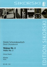 Schostakovitch Dimitri - Valse N°2 - Piano (arr. Florian Noack)