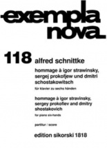 Schnittke Alfred - Hommage A Stravinsky, Prokofiev and Chostakovitch - Piano 6 Mains