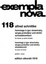 Schnittke Alfred - Hommage A Stravinsky, Prokofiev and Chostakovitch - Piano 6 Mains