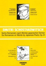 Chostakovitch Dimitri - Six Romances On Words By Japanese Poets Op.21 - Chant(tenor) and Piano