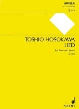 Hosokawa T. - Lied - Flûte Et Piano