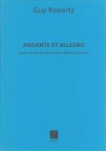 Ropartz Guy - Andante & Allegro - Cornet Sib, Piano